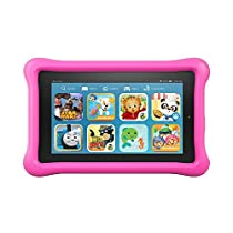 "Fire Kids Edition Tablet, 7"" Display, 16 GB, Pink Kid-Proof Case"