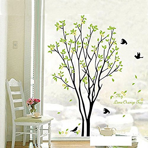 generic-diy-my-time-change-free-dreaming-tree-green-leaves-flying-swallows-birds-wall-sticker-remova
