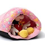 FOCUSPET Small Lovely Cat Kitten Cave Pet Puppy Warm Winter Bed House Sleeping Mat Dog Pad Igloo Nest Pink For Sale