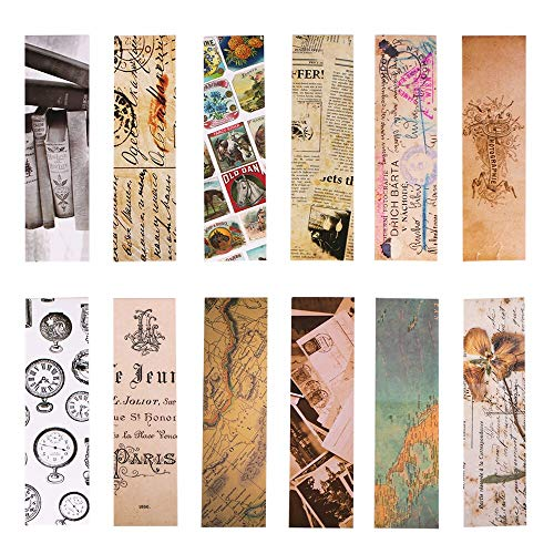Vintage Style Bookmarks for Women Men, 30PCS (Retro Collection)]()