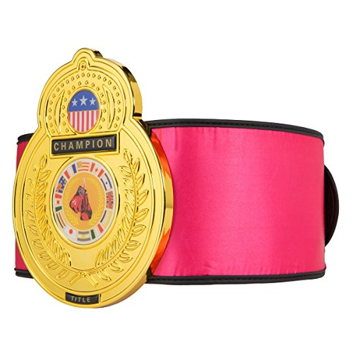 Costume Boxing Championship Belt (TITLE Boxing Old School Championship Belt, Pink)