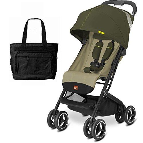 Goodbaby GB QBIT Plus Baby Stroller with Diaper Bag Lizard Khaki
