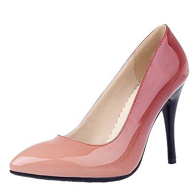 MissSaSa Damen Stiletto zweifarbig Lack-Pumps