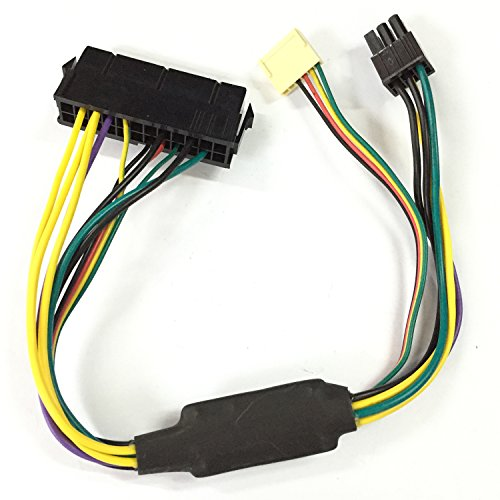 ATX 24pin To Motherboard 2-port 6pin Adapter Power Supply Cable Cord For HP Z220