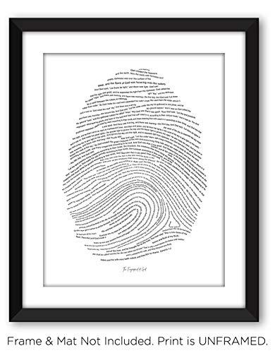 The Fingerprint of God | 11x14 Unframed Religious Scripture Art Print | Genesis 1-2