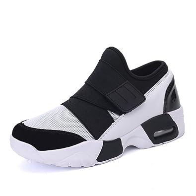 78f977e4b592a LFEU Femme Homme Chaussure de Sport sans Lacet Sneakers Maille Respirant  Pour Promenade Scrach Léger Tendance