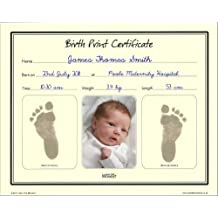 Save The Moment Birth Print Certificate with Inkless Footprint Baby Keepsake