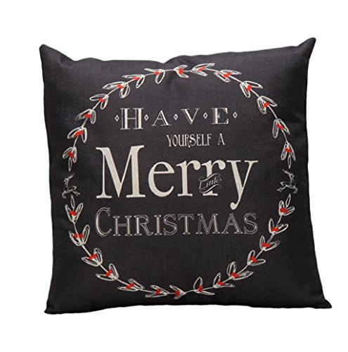 Christmas Dector Mallcat Vintage Letter Pillow Case (Black) - Make Your Own Christmas Costume Ideas