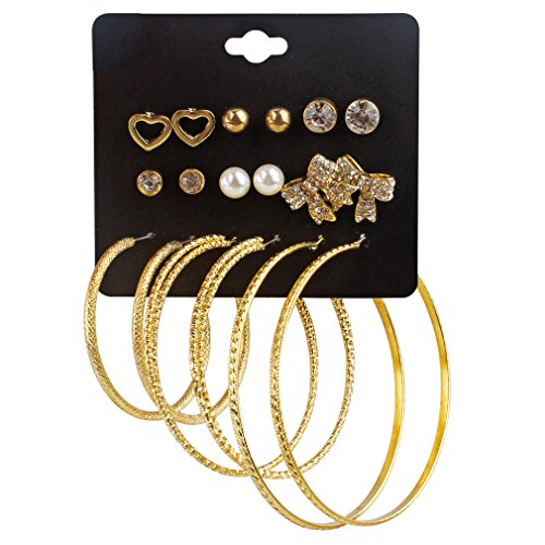Heart Hoop Earring Set - 4