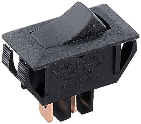 RV Designer Collection S261 Rocker Switch On//Off Spst Black