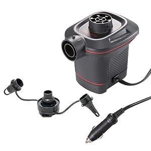 Intex 66636 - Hinchador eléctrico con adaptador para coche 12V Quick Fill
