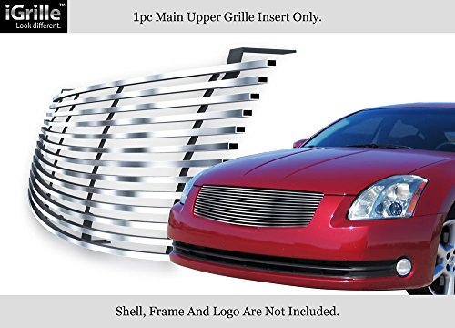 APS Fits 2004-2006 Nissan Maxima Stainless Steel Billet Grille Insert #N19-C80458N