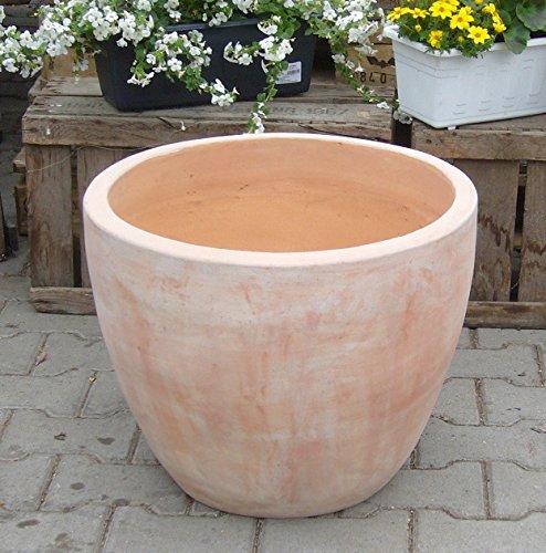 Blumentopf echt Terrakotta 40 cm , Blumenkübel für Garten und ...