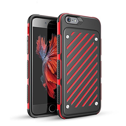 Price comparison product image AIYIBEN Anti-slip Slim iPhone 6/6s Case Ultra Thin Flexible [PC+TPU] Shockproof Protective Shell Anti-scratch Carrying Case for Apple iPhone 6/6s. (4.7, Red)