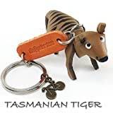 TASMANIAN TIGER 3D Animal Style So Cute Handcraft Leather Keychain Keyring