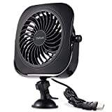 USB Fan,Daffodil UFN110B Mini Table Desk Personal Fan Portable Fan for Car Office Home School and Camping, High Compatibility, Power Saving with 360 Degree Rotation, 4.5 Inch (Black)