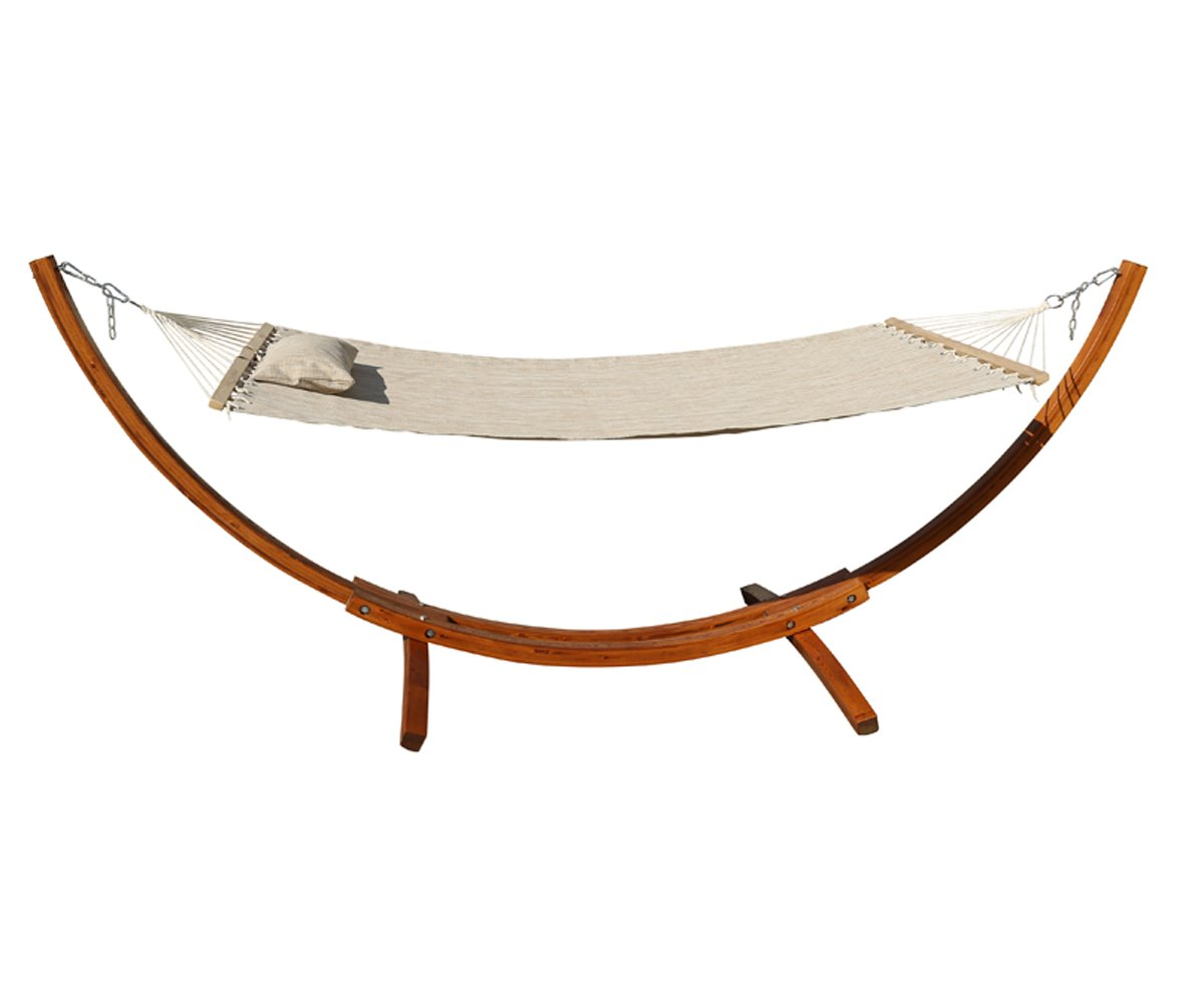 lazy combo wood hammocks bar cotton spreader with pillow and daze arc stand lazydaze rope hammock wooden