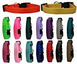 Mirage Pet Products Basic Nylon Collars Groomer & Breeder Bulk Packs (25 Pack X-Large)