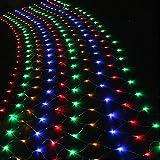 AGPtek® 300 LED RGB multi-color Net Mesh Fairy String Light for Outdoor Wedding Party Christmas Xmas Decoration Tree