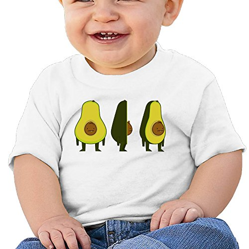 Price comparison product image Boss-Seller Avocado Short Sleeve Shirt For 6-24 Months Infant Size 24 Months White
