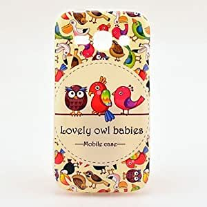 SUMCOM Lovely Owl Babies TPU Back Cover Case for Samsung Galaxy Ace 3 S7272