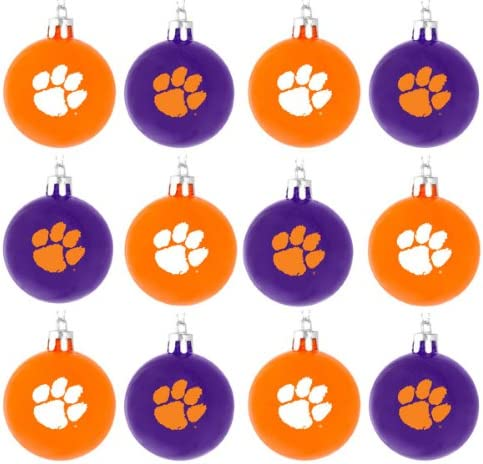 Team Color One Size FOCO NCAA Clemson Tigers 12 Pack Ball Hanging Tree Holiday Ornament Set12 Pack Ball Hanging Tree Holiday Ornament Set