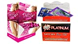 Bundle - 2 items: Body Action Dazzle Cream 50pc.3ml DP And Wet Safe Sex Kit with Platinum Silicone Lubricant
