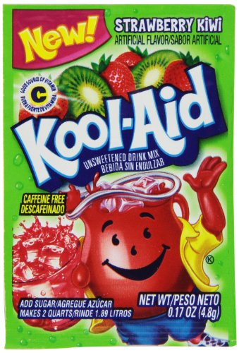 Kool Aid Strawberry Kiwi Drink Mix, Makes 2 Quarts (0.17 oz Packets, Pack of 96)