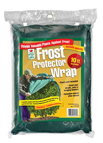 - Easy Gardener Plant Protection Large Reusable Frost Blanket Wrap With Cinch Cord, Diameter 10 feet