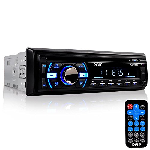 Pyle Bluetooth Stereo Receiver [Digital AM/FM Radio System] Wireless Music Streaming | Hands-Free Call Answering | CD Player | MP3/USB/SD/AUX | Single DIN (PLCD43BTM)