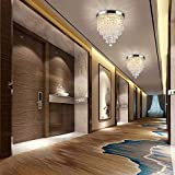 DLLT Crystal Chandelier Lighting, 3-Lights Modern