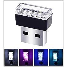USB LED Car Interior Atmosphere Light Feet Lamp Illumination Decoration Light(Ice Blue light)