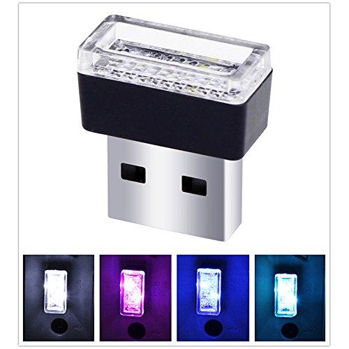 USB LED Car Interior Atmosphere Light Feet Lamp Illumination Decoration Light(Blue light)