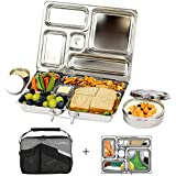 PlanetBox Rover Lunchbox- Black Carry Bag with Sports Balls Magnets