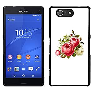 MOBMART Carcasa Funda Case Cover Armor Shell PARA Sony Xperia Z3 Compact - Strawberry Colored Flowers