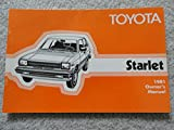 1981 Toyota Starlet Owners Manual - Original and in very nice condition