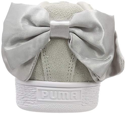 Niñas gray Suede Puma Bow Violet Violet Gris Zapatillas 06 Para Jr gray XpU1wUq