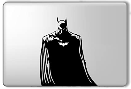 Batman light up bat superhero apple macbook laptop vinyl sticker decal