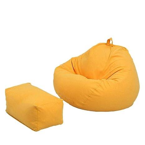 Wondrous Amazon Com Bean Bag Chair Lazy Sofa With Pedal Ultra Soft Evergreenethics Interior Chair Design Evergreenethicsorg