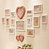 LQQGXL European photo wall wooden living room combination stage wedding photo frame Photo frame ( Color : B )