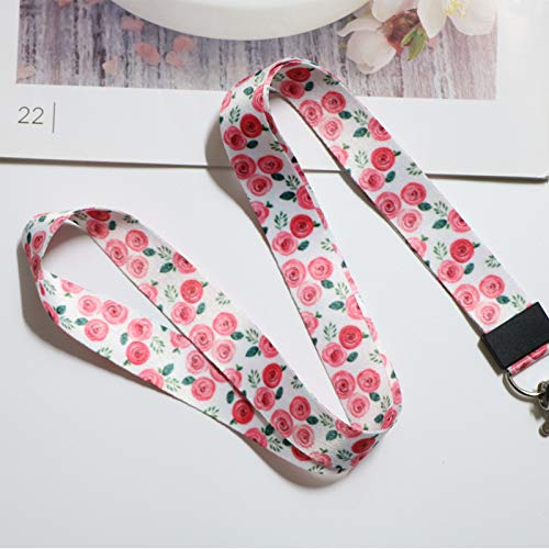 tarjeta de identificaci/ón correas soporte de insignia USB Peque/ños cordones para el cuello de hojas frescas para llaves tel/éfono m/óvil cuerda para colgar gimnasio
