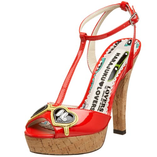 Harajuku Lovers Women's Leah T-Strap,Red,US Women's 7.5 M