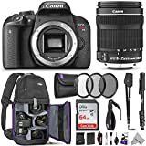 Canon EOS Rebel T7i DSLR Camera with 18-135mm Lens with Altura Photo Advanced Accessory and Travel Bundle