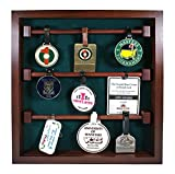 Golf Bag Tag Collection Display with Acrylic Cover