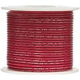 "Remington Industries 18UL1007STRRED UL1007 18 AWG Gauge Stranded Hook-Up Wire, 300V, 0.0403"" Diameter, 100' Length, Red"