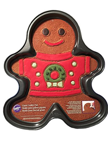 Giant Gingerbread Boy Cookie Pan - Ugly Sweater (Giant Cookie Pan compare prices)