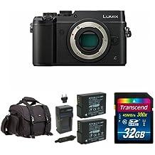 Panasonic LUMIX DMC-GX8KBODY DSLM Mirrorless 4K Camera Body Only, Dual Image Stabilization (Black) w/ Free Accessories