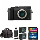 Panasonic LUMIX DMC-GX8KBODY DSLM Mirrorless 4K Camera Body Only, Dual Image Stabilization (Black) w/ Free Accessories