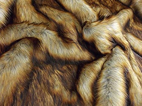 LONG PILE BEIGE FOX Super Luxury Faux Fur Fabric Material