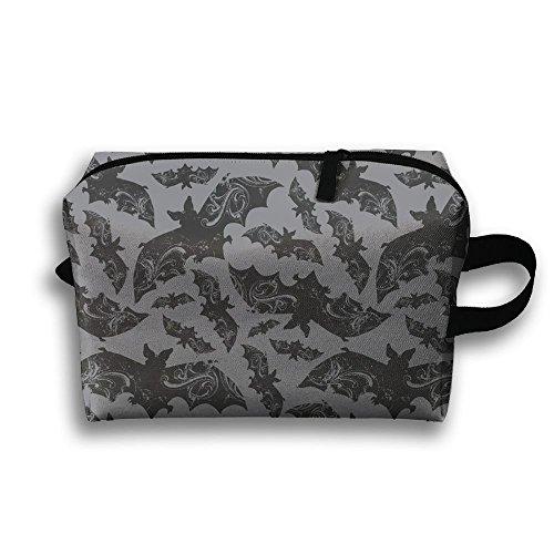 KIOT156 Halloween Bats Travel Kit Organizer Bathroom Storage Cosmetic Bag Carry Case Toiletry Bag -